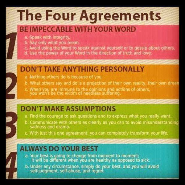 The Four Agreements Teachings Of Masters
